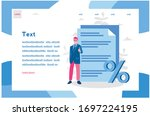 document with percent and... | Shutterstock .eps vector #1697224195
