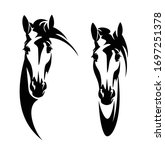 horse head front view head... | Shutterstock .eps vector #1697251378