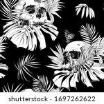 seamless wallpaper pattern.... | Shutterstock .eps vector #1697262622