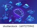 industrial internet of things ...   Shutterstock .eps vector #1697275942