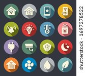 smart home system vector icons | Shutterstock .eps vector #1697278522