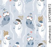 seamless childish pattern with... | Shutterstock .eps vector #1697288872