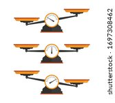 set of scales. weighing scale...   Shutterstock .eps vector #1697308462