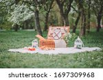 a cozy picnic in nature  in...