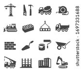 construction icons set ... | Shutterstock .eps vector #1697331688