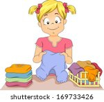 art,cartoon,child,clip,clipart,clothes,clothing,cutout,eps,female,fold,girl,graphic,happy,illustration
