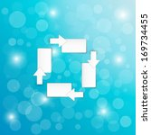 arrows and blank paper blocks... | Shutterstock .eps vector #169734455
