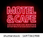 vector neon sign motel   cafe.... | Shutterstock .eps vector #1697361988