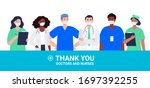 thank you doctors and nurses...   Shutterstock .eps vector #1697392255