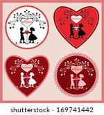 valentine's day labels. | Shutterstock .eps vector #169741442