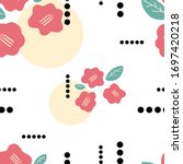 Seamless Vector Pattern Of Red...