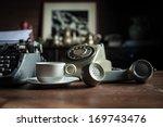 still life of retro office ... | Shutterstock . vector #169743476