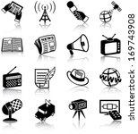 mass media related icons ... | Shutterstock .eps vector #169743908