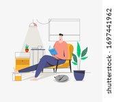 vector illustration of man... | Shutterstock .eps vector #1697441962