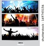 music banners set. vector | Shutterstock .eps vector #169745156