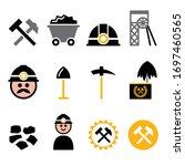 coal mine and miner vector... | Shutterstock .eps vector #1697460565