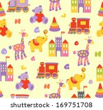 seamless baby background  | Shutterstock . vector #169751708