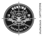 Deer Hunting Vector Round...