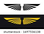 wings vector collection. simple ... | Shutterstock .eps vector #1697536138