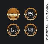 sale retro vintage golden... | Shutterstock .eps vector #1697570002