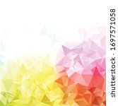 colorful polygonal mosaic...   Shutterstock .eps vector #1697571058