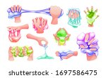 funny colorful cartoon homemade ... | Shutterstock .eps vector #1697586475