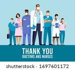 covid 19 spread of the virus.... | Shutterstock .eps vector #1697601172