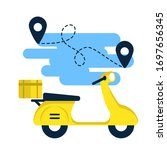 scooter icon. scooter for home... | Shutterstock . vector #1697656345