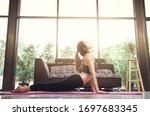 Young Asian Woman Yoga Practic...