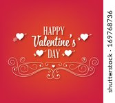 happy valentine's day hand... | Shutterstock .eps vector #169768736