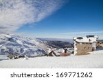 sierra nevada ski station and... | Shutterstock . vector #169771262