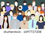 human group vector epidemic... | Shutterstock .eps vector #1697727208