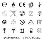 set of packaging symbols.... | Shutterstock .eps vector #1697750182