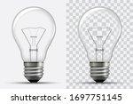 realistic light bulb.... | Shutterstock .eps vector #1697751145