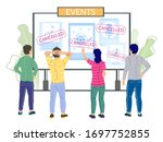 cancelled events due to corona... | Shutterstock .eps vector #1697752855
