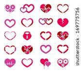 heart icon set illustration on...   Shutterstock . vector #169775756