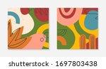 set of modern vector collages...   Shutterstock .eps vector #1697803438