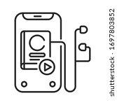 audio book black line icon. a...
