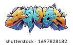 summer graffiti lettering... | Shutterstock .eps vector #1697828182