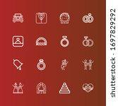 editable 16 groom icons for web ...   Shutterstock .eps vector #1697829292