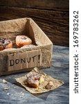Eat fresh donuts for breakfast - stock photo