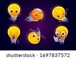 cute light bulb character in... | Shutterstock .eps vector #1697837572