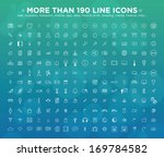 more than 190 line icons  web ... | Shutterstock .eps vector #169784582