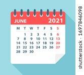 june 2021 calendar leaf  ... | Shutterstock .eps vector #1697846098