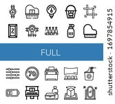 set of full icons. such as...   Shutterstock .eps vector #1697854915