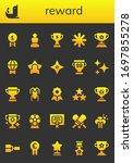 reward icon set. 26 filled...