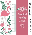 vector cute height chart with...   Shutterstock .eps vector #1697897332