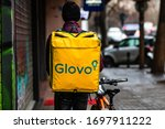 A Glovo Food Delivery Courier...