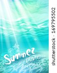 Stock vector summer holidays underwater background realistic vector illustration eps 169795502