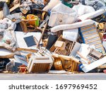 Recycling Dump With Trash Of...